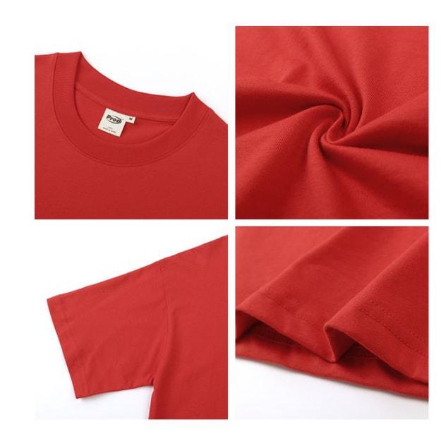 商品详情 - 爱心发射宽松薄款短袖T恤 红色 - L - image  0