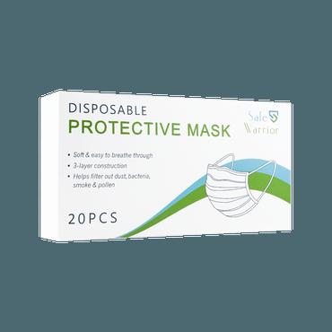 【限时买三赠一】Safe Warrior 一次性防护口罩 20片装 细菌过滤率超过98%