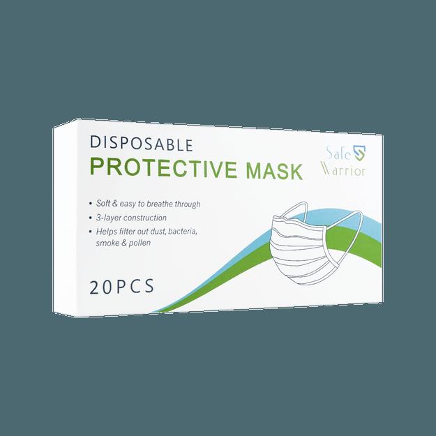 商品详情 - Safe Warrior 一次性防护口罩 20片装 细菌过滤率超过98% - image  0