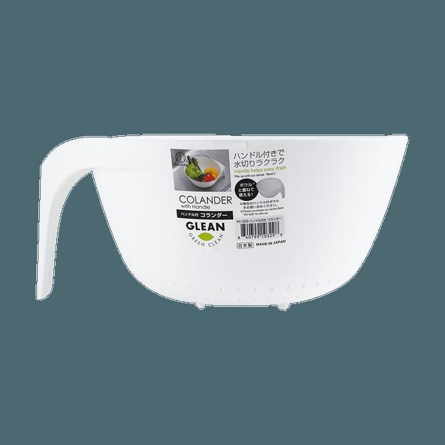 商品详情 - 日本KOKUBO小久保 带手柄沥水篮 白色 260x230x115mm - image  0