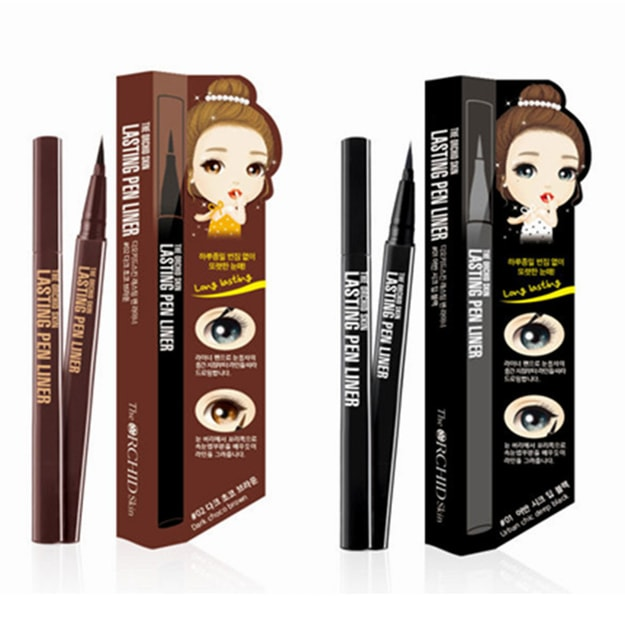 Product Detail - The ORCHID SKIN Lasting Pen Liner #01 Urban Chic Deep Black  Choco brown 1pc - image 0
