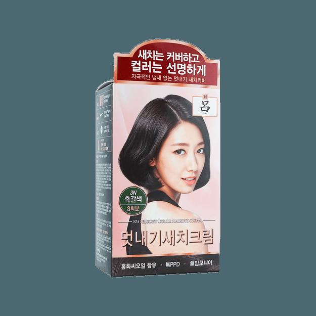 商品详情 - 韩国RYO吕 染白发染发剂 自然黑棕色 色号3N 120g - image  0