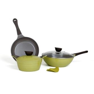 Eela Olive Green 5pc set - 2.5Qt Stockpot 10