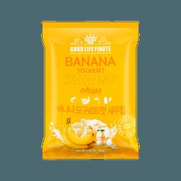 趣莱福 香蕉酸奶虾片 82g