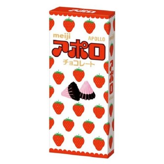 MEIJI Apollo Strawberry Chocolate Candy 46g