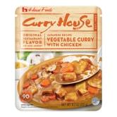 日本HOUSE 蔬菜鸡肉咖喱 可微波 232g 限定款