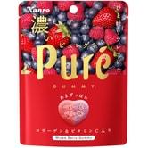 【日本直邮】KANRO PURE系列 心型果汁胶原蛋白软糖 三种莓混合口味 52g