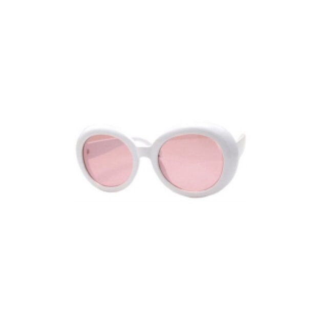 Product Detail - RETRO POP Fashion Sunglasses 7416 White Frame/Pink Lens - image 0