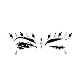 JIAOJIAO EDM Rave Music Festival Makeup Diamond Face Jewels Eye Stickers