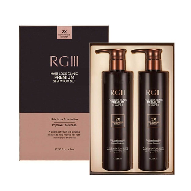 Product Detail - RGIII Hair Loss Clinic Premium 2x Red Ginsen Extract Shampoo Set  17.58oz*2 - image  0