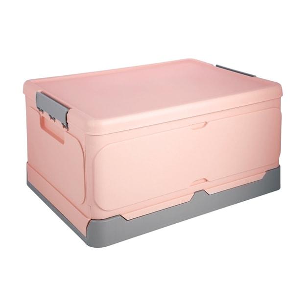 """商品详情 - 折叠收纳箱 ROSELIFE 适合书本 衣服 零食 玩具等的储物盒 适合家用 超市购物 汽车后备箱 18.5\"""" X 13.5\"""" X9.0\"""" 大号粉 - image  0"""