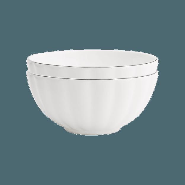 商品详情 - 网易严选手工真金描边 骨瓷餐具16件套 6.5寸面碗*2 - image  0