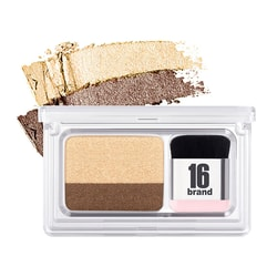 16BRAND Eye Magazine Dual Color Eye Shadow with Brush #03 Sweet Sunday 1pc