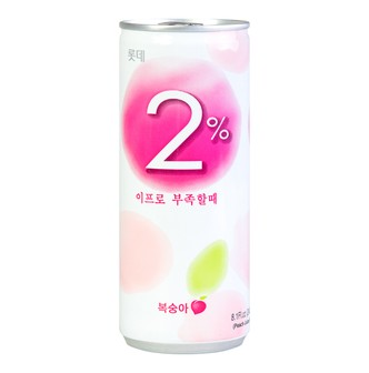 LOTTE Refreshing Water 2% Peach 240ml