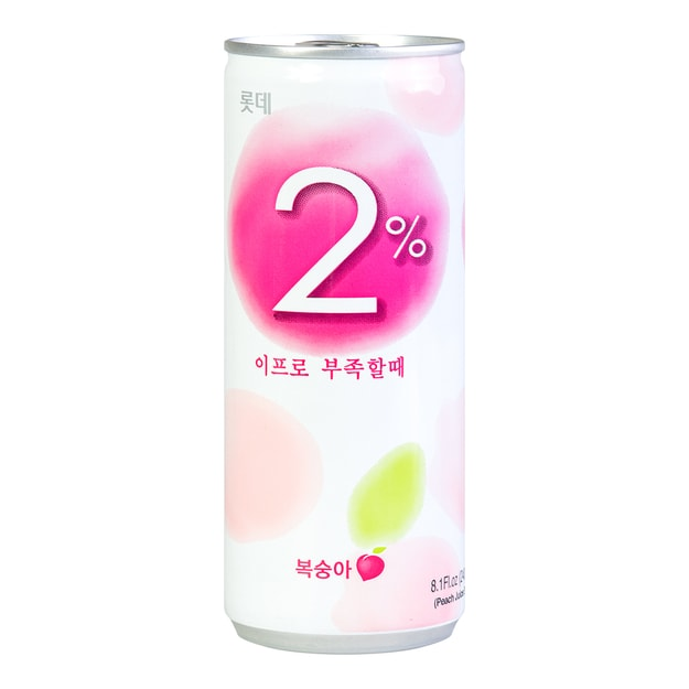 Product Detail - LOTTE Refreshing Water 2% Peach 240ml - image 0