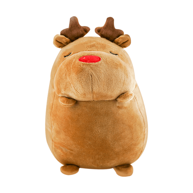 Product Detail - Christmas Series Round Elk Plush Toy - image  0