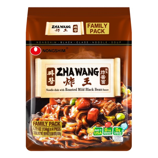 Product Detail - NONGSHIM Zha Wang Instant Noodles 4 packs 536g - image 0