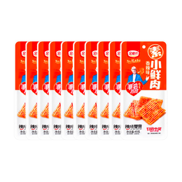 【Value Pack】JINMOFANG Vegetarian Snacks Spicy 40g*10