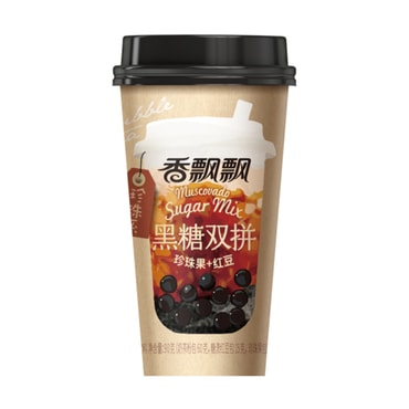 【Buy 3 Get 1 Free】XIANGPIAOPIAO Brown Sugar Milk Tea with Boba and Red Bean 90g