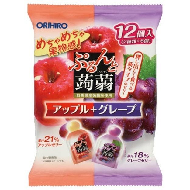 Product Detail - ORIHIRO Konnyaku Jelly Apple Grape Flavour 12pcs - image  0