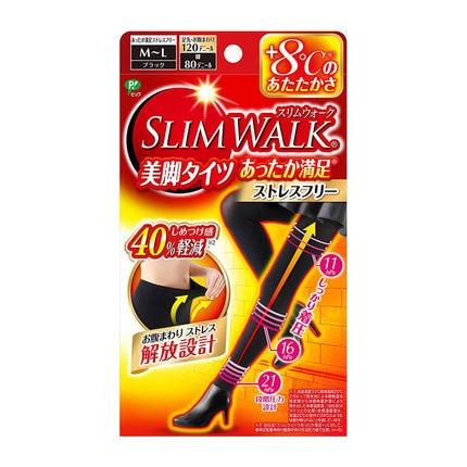 日本SLIMWALK 自发热连裤袜打底袜保暖显瘦美腿袜 #M-Lsize 怎么样 - 亚米网