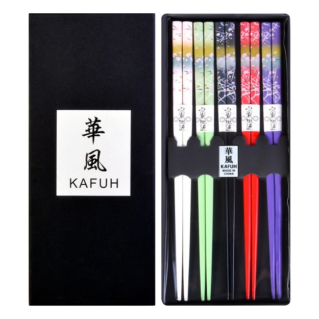 Product Detail - KAFUH Japanese Style Romantic Chopstick Set 5 Pairs - image 0