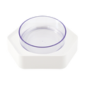 Pet Feeding Bowl for Cat and Dog Water Bowl and Food Bowl 131mm Single Bowl #White