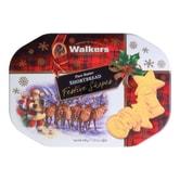 苏格兰WALKERS 苏格兰皇家奶油系列 圣诞造型黄油曲奇饼干礼盒 350g