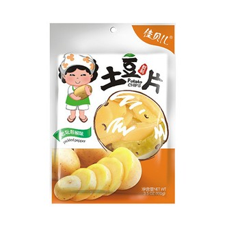 与美 佳贝儿 鲜制土豆片 老坛泡椒味 100g