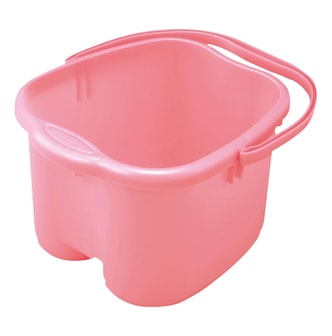 INOMATA Foot Detox Massage Bucket Pearl Pink