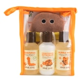 LITTLE TWIG All Natural Baby Bee Set with Bumblebee Bath Mitt Shampoo Conditioning