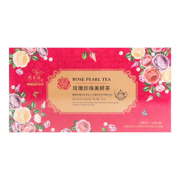 Product Detail - AWASTEA Rose Pearl Tea 36 bags/ 18 servings - image 0