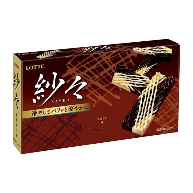 商品详情 - 【日本直邮】DHL直邮3-5天到 日本乐天LOTTE 经典纱纱 网状巧克力 织布状花式巧克力 69g - image  0