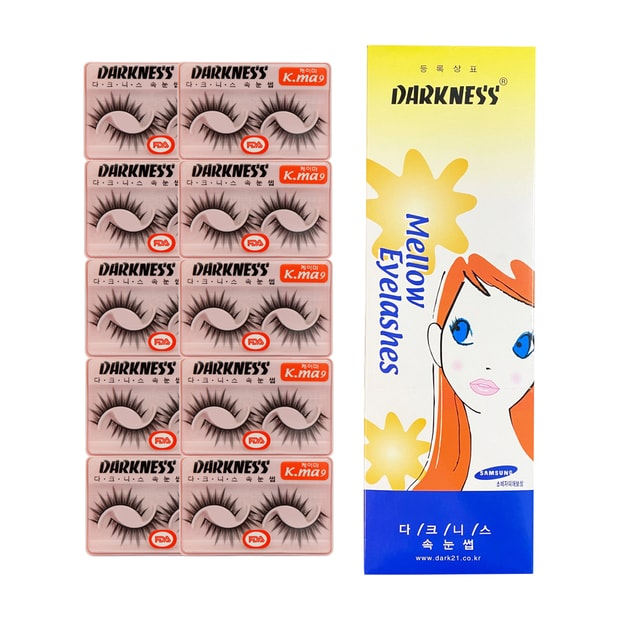 Product Detail - DARKNESS False Eyelashes  #Kma9 10Boxes20Pairs Free Eyelash Glu - image 0