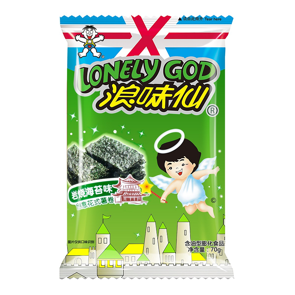 Yamibuy.com:Customer reviews:WANT WANT LONELY GOD Japanese Seaweed Flavor Potato Twists 70g