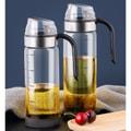 中国直邮 自动开合玻璃油壶油瓶 厨房重力酱油瓶油醋瓶防漏可计量油壶醋壶 450ml