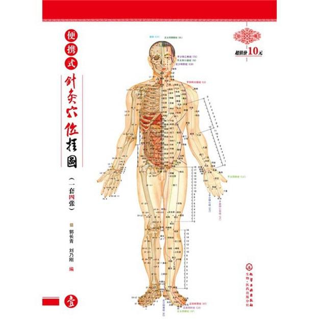 商品详情 - 便携式针灸穴位挂图(1套4张) - image  0