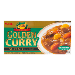 S&B Curry Golden Medium Hot 220g