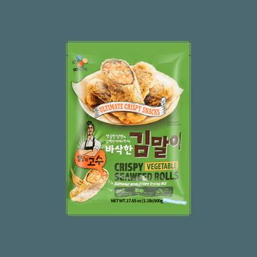 【冷冻】韩国CJ 即食炸紫菜卷 蔬菜味 500g