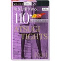 【日本直邮】ATSUGI厚木 天鹅绒发热保暖打底连裤丝袜110D #黑色 M-L 2双装