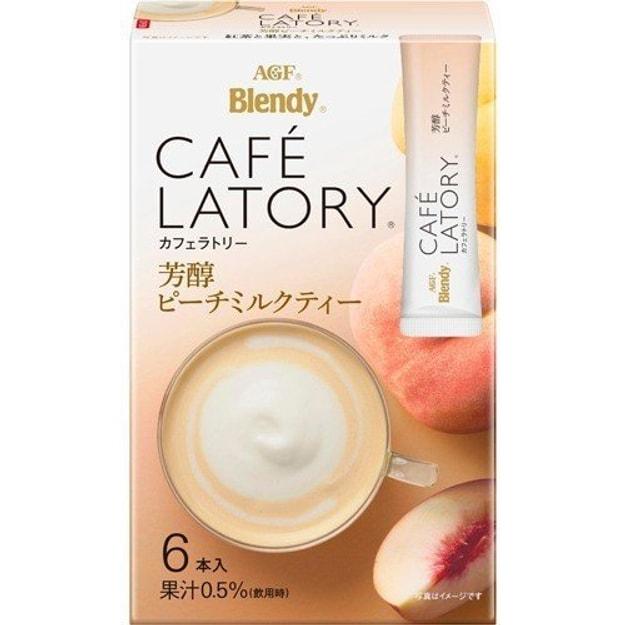 Product Detail - AGF Blendy Café Latory Peach Flavored Milk Tea 6pcs Exp. Date : 12 2020 - image 0
