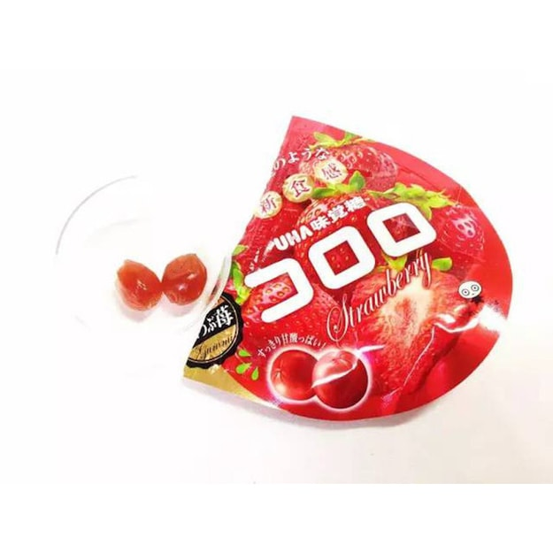 UHA Fruit Candy Strawberry 48g
