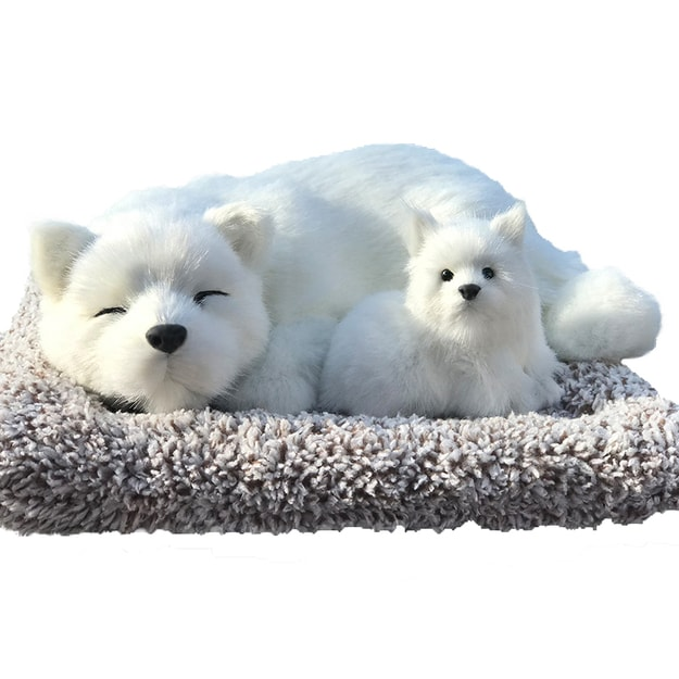 Product Detail - LORDUPHOLD Car Ornament Simulation Sleeping Dog Air Fresher Bamboo Charcoal Bag Activated Carbon Samoyed Awake 1 pcs - image 0