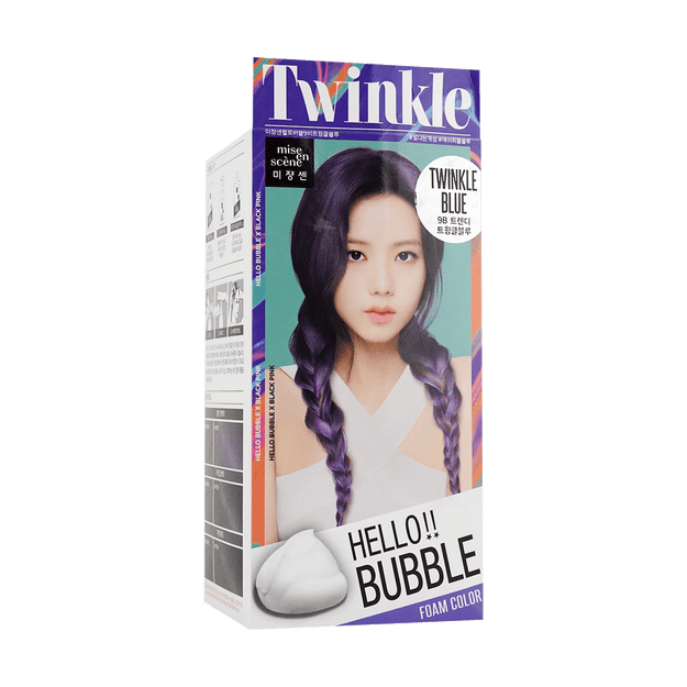 Product Detail - MISE EN SCENE Hello bubble Hair Foam Color Blue - image 0