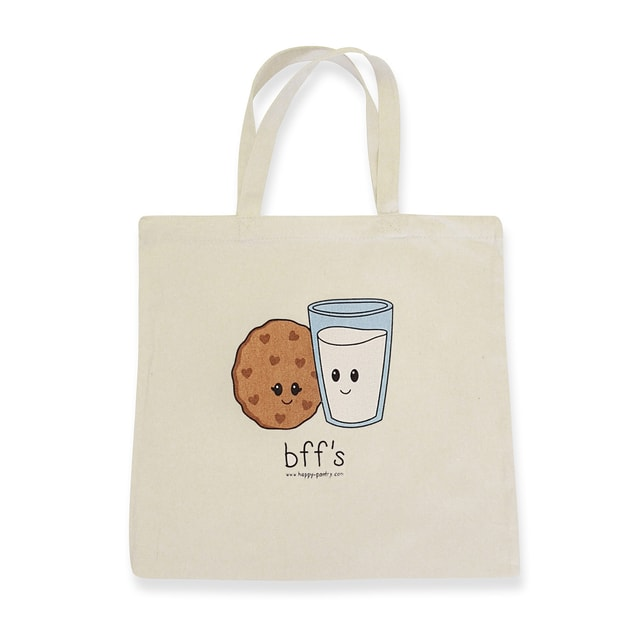 """Product Detail - HAPPY PANTRY Milk and Cookies \""""Bff\'s\"""" Tote Bag - image 0"""