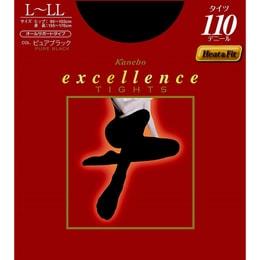 JAPAN KANEBO Hot Tights 110 Denier Size L-LL Black 1 pieces