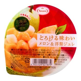日本TARAMI 味系列甜瓜洋梨果肉果冻 210g