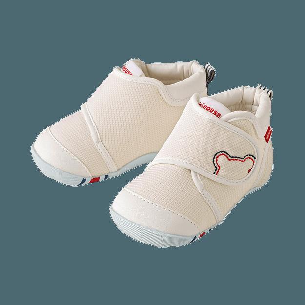 商品详情 - MIKIHOUSE||新款舒适婴儿学步鞋 一段 ||白色 13cm - image  0