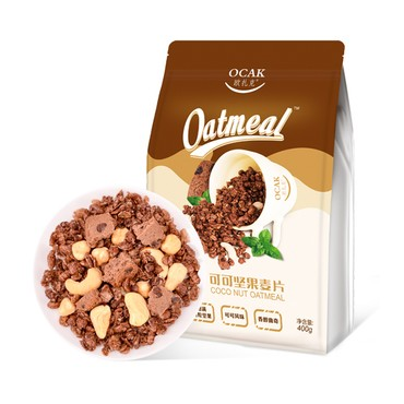 OCAK Cocoa Nut Dry Snack Cereal Replacement Oatmeal 400g