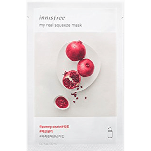 Product Detail - INNISFREE fresh and beautiful facial makeup mask moisturizing and brightening skin care(1 tablet) #pomegranate - image 0